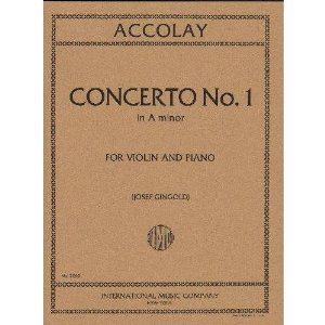 Accolay, J.B. - Concerto No. 1 in a minor for Violin - Arranged by Josef Gingold - International
